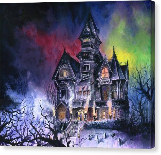 Horror Canvas Print - Haunted House by Ken Meyer