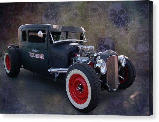 Haunted Truck Repair Canvas Print
