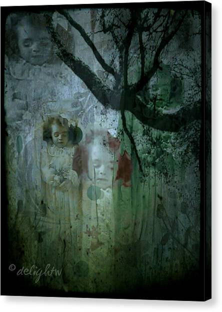 Canvas Print featuring the digital art Haunting by Delight Worthyn