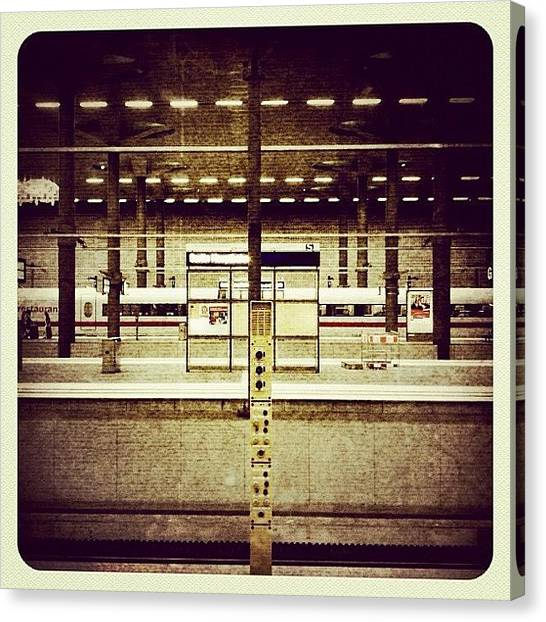 Berlin Canvas Print - Hauptbahnhof Der Haupstadt #berlin by Valnowy Photography