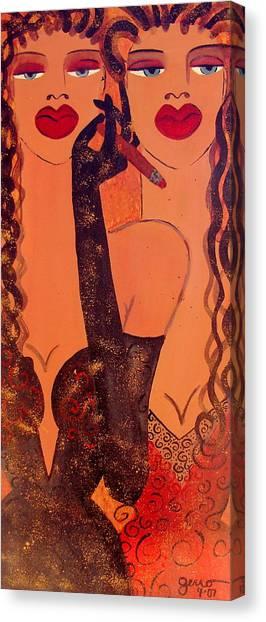 Haute Couture Cigar Canvas Print by Helen Gerro