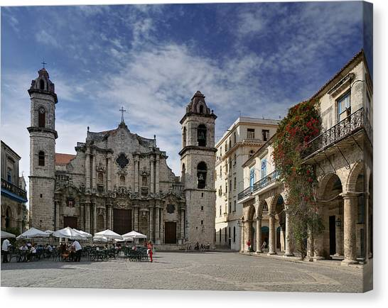 Havana Cathedral. Cuba Canvas Print