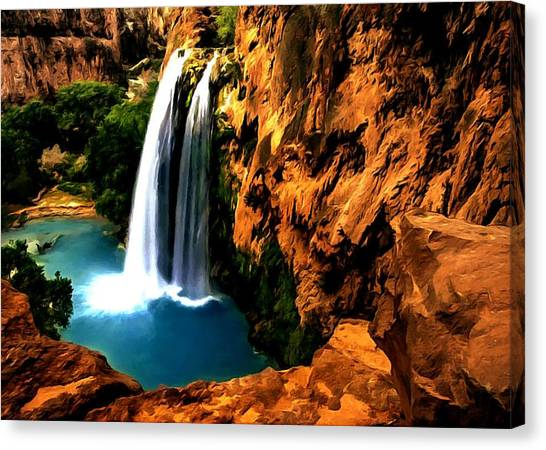 Havasu Waterfall Canvas Print
