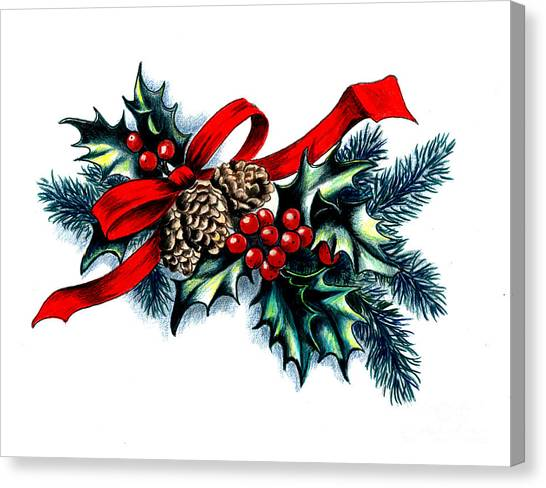 Have A Holly Holly Christmas Canvas Print by Tobi Czumak