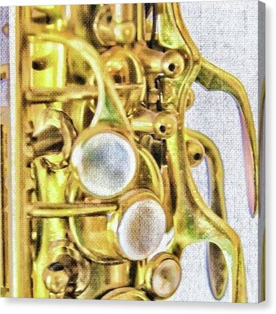 Saxophones Canvas Print - Have A Sax Sunday! Sax By Pamela by Pamela Williams