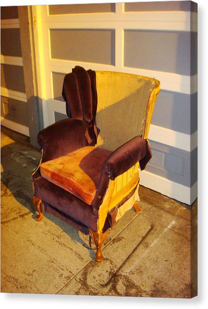 Canvas Print featuring the photograph Have A Seat In Dore Alley by Mr Photojimsf