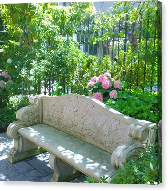 Decorative Canvas Print - Have A Seat In My Secret Garden. #patio by Shari Warren