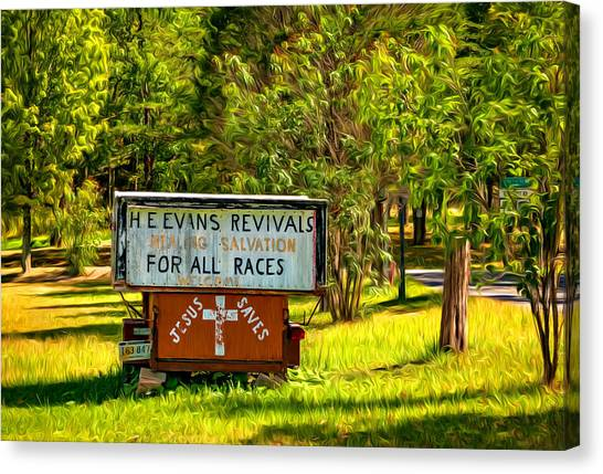 Fundamentalism Canvas Print - Have Miracle - Will Travel. Paint by Steve Harrington