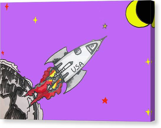 Have Spacesuit Will Travel Canvas Print