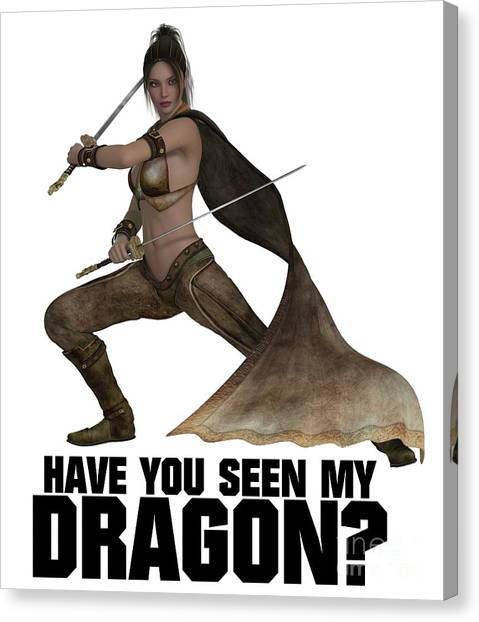 Boobies Canvas Print - Have You Seen My Dragon? by Esoterica Art Agency
