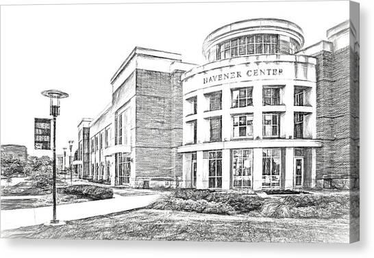 University Of Missouri Canvas Print - Havener Center - Sketch - Missouri University Of Science And Technology by Nikolyn McDonald