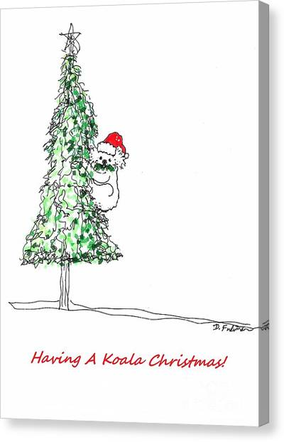 Having A Koala Christmas Canvas Print