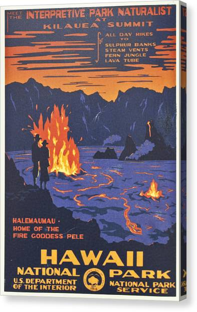 Hawaii Vintage Travel Poster Canvas Print