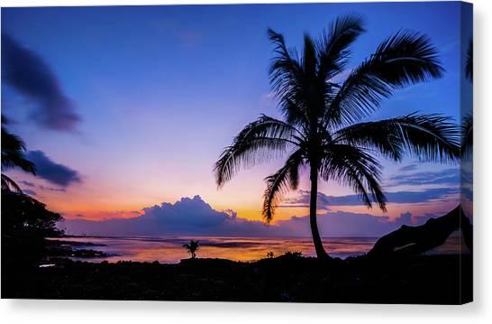 Hawaiian Dawn Colors Canvas Print