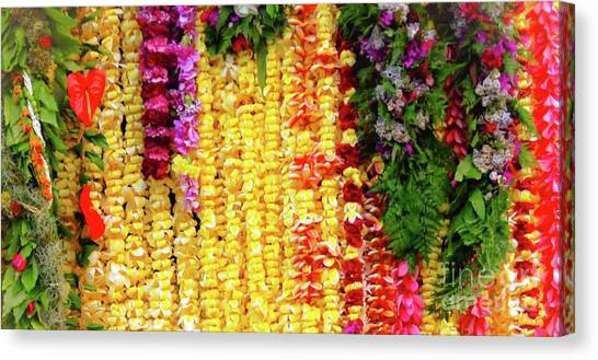 Hawaiian Flower Lei's Canvas Print