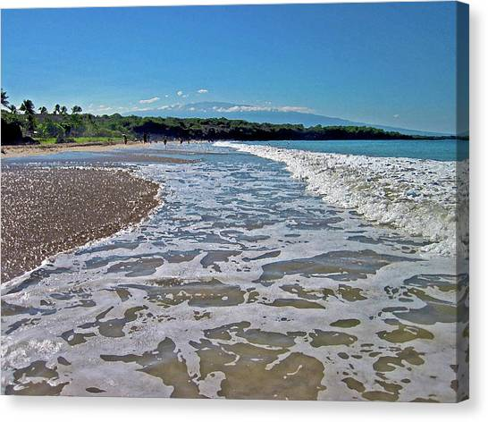 Hawaiian Landscape Of Hapuna Beach Canvas Print