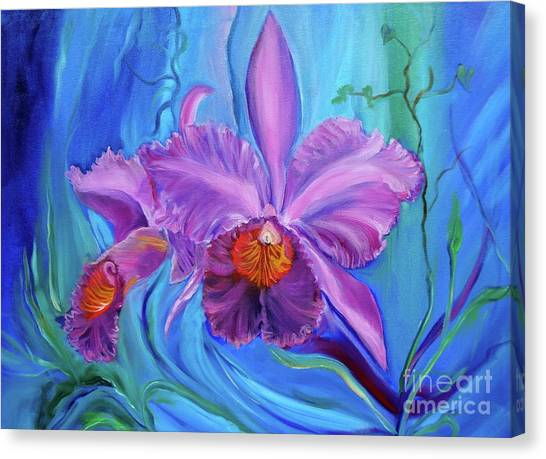 Hawaiian Orchid Lavender Jenny Lee Discount Canvas Print