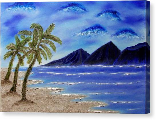 Hawaiian Palms Canvas Print by Marie Lamoureaux