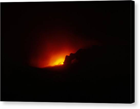University Of Hawaii Canvas Print - Hawaiian Volcano 4 Of 9 The Sea Arch by Michael French