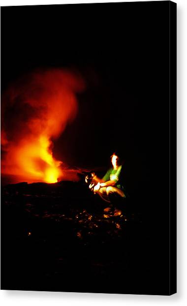 University Of Hawaii Canvas Print - Hawaiian Volcano 9 Of 9 The Photographer by Michael French