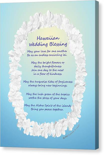 Hawaiian Wedding Blessing Canvas Print