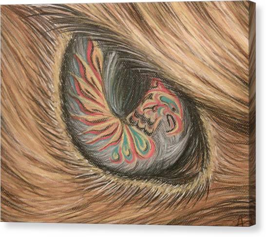 Hawk Eye Thunderbird Canvas Print by Alysa Sheats