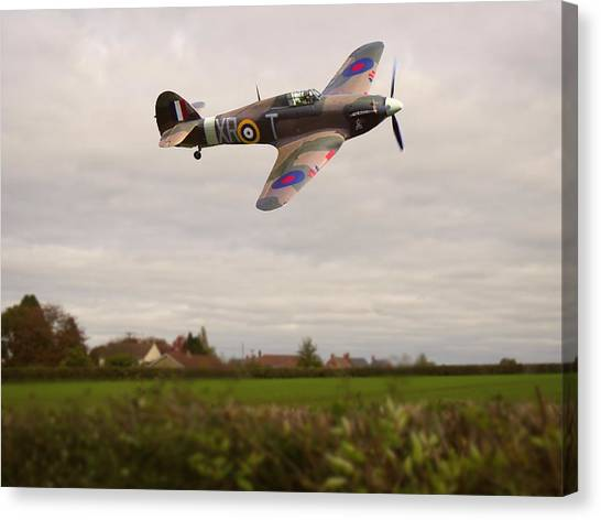 Canvas Print featuring the photograph Hawker Hurricane -1 by Paul Gulliver