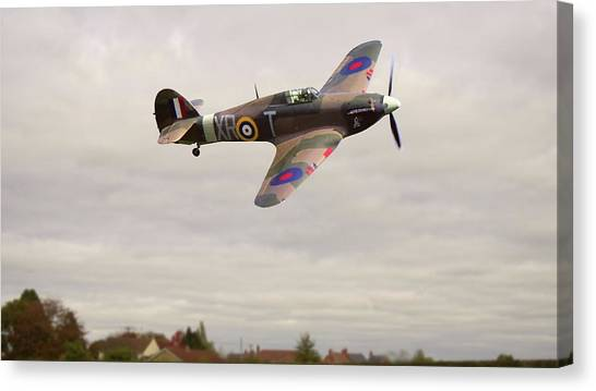 Canvas Print featuring the photograph Hawker Hurricane -2 by Paul Gulliver