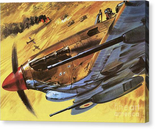 Wii Canvas Print - Hawker Hurricane by Wilf Hardy