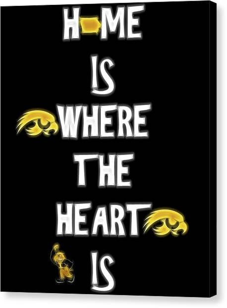 University Of Iowa Canvas Print - Hawkeye For Life by Dan Sproul