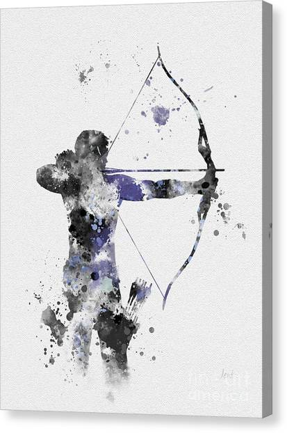 Avengers Canvas Print - Hawkeye by Rebecca Jenkins