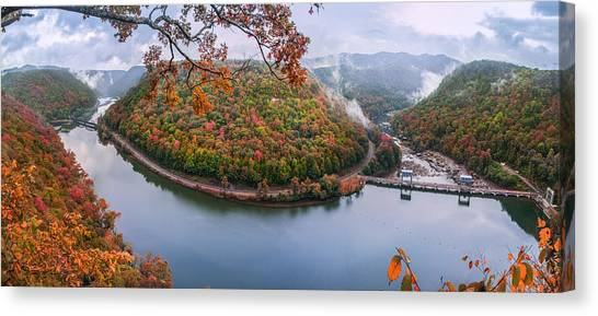 Hawks Nest State Park Autumn Splendor Canvas Print