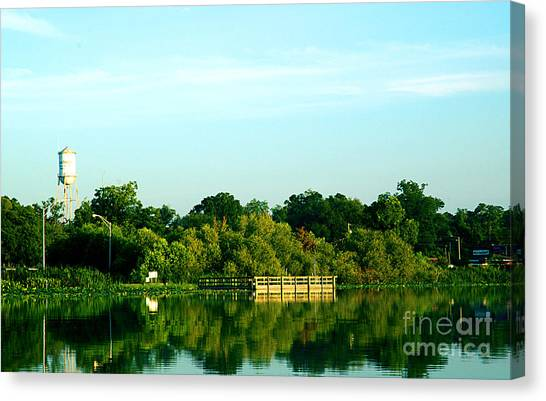 Hawthorne With Water Tower Canvas Print