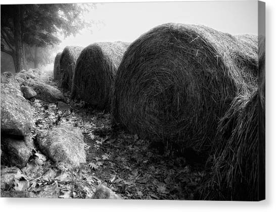 Hay Bales Paxton Ma Canvas Print by Richard Danek