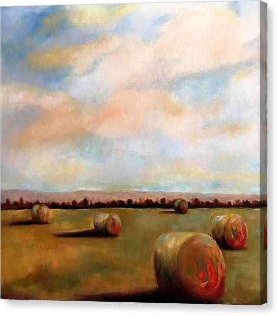 Hay Field Canvas Print
