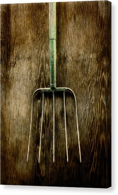Contractors Canvas Print - Tools On Wood 7 by Yo Pedro