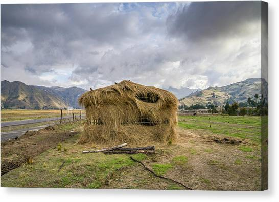 Hay Hut In Andes Canvas Print