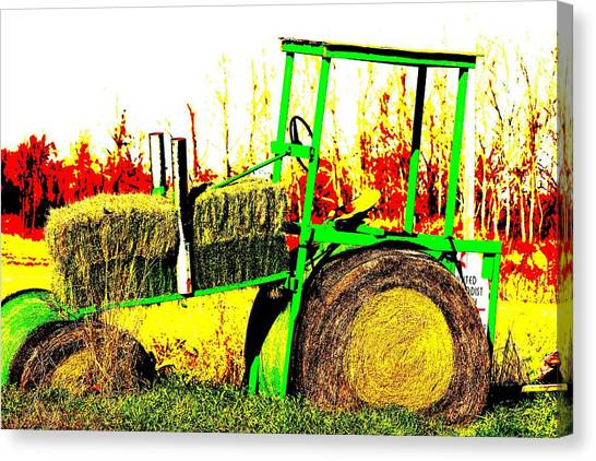 Hay It's A Tractor Canvas Print