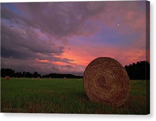 Hay Bales Canvas Print - Hay Now by Jerry LoFaro