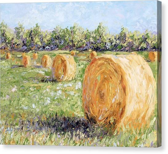 Hay Rolls Canvas Print