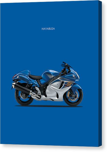 Suzuki Canvas Print - Hayabusa In Blue by Mark Rogan