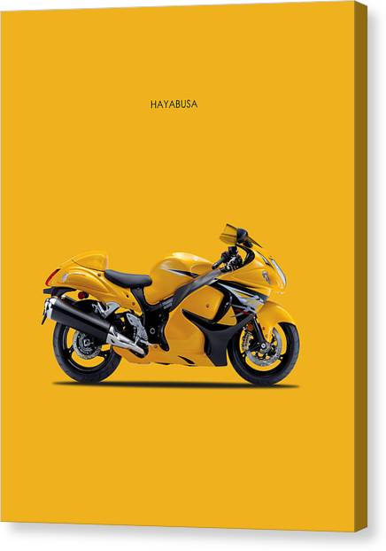 Suzuki Canvas Print - Hayabusa In Yellow by Mark Rogan
