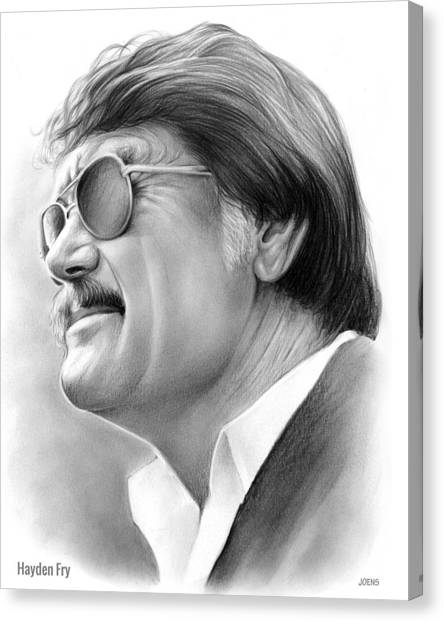 University Of Iowa Canvas Print - Hayden Fry by Greg Joens