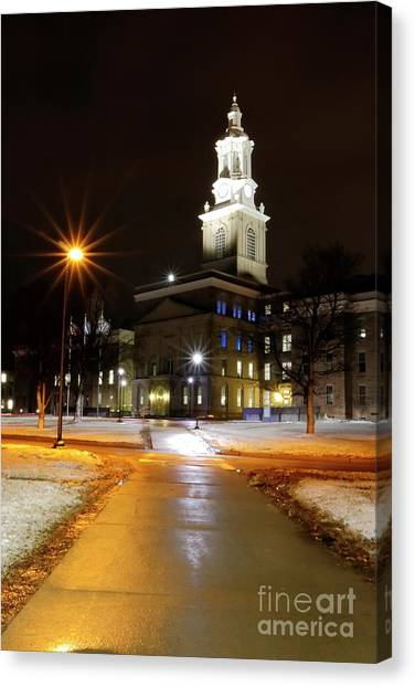 University At Buffalo University At Buffalo Canvas Print - Hayes Hall by Daniel J Ruggiero