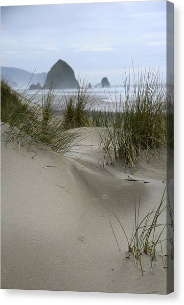 Haystack Rock From Chapman Point Canvas Print
