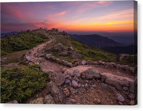 Haystack Sunset Canvas Print