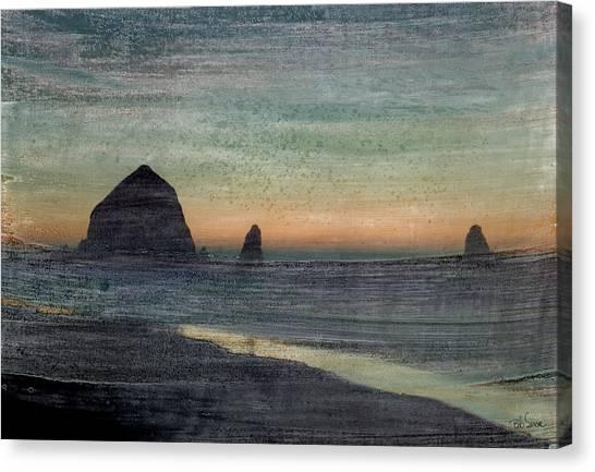Haystacks Canvas Print by Bob Senesac