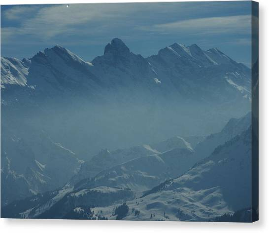 Haze In The Valley Canvas Print