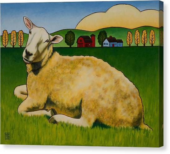 Sheep Canvas Print - Hazel by Stacey Neumiller