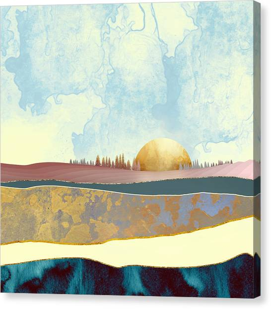 Texture Canvas Print - Hazy Afternoon by Katherine Smit